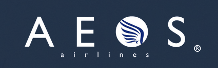 Logo for our sister company Aeos Airlines